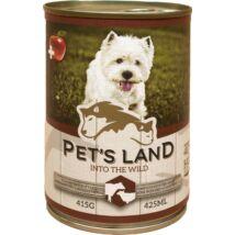 Pet s Land Dog Konzerv Marhamáj-Bárányhús almával 415g