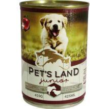 Pet s Land Dog Junior Konzerv Marhamáj-Bárányhús almával 415g
