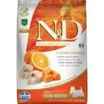 N&D Dog Grain Free tőkehal&narancs sütőtökkel adult mini 7kg