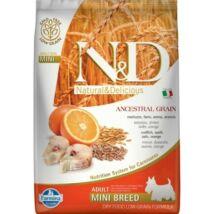 N&D Dog Low Grain Tőkehal&narancs Adult Mini 7kg