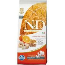 N&D Dog Low Grain tőkehal&narancs adult medium 12kg