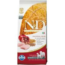 N&D Dog Low Grain csirke&gránátalma senior medium/maxi 12kg