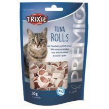 Jutalomfalat macskának Premio tonhal tekercs 50gr