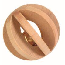 Játék Fából Labda Csengővel Rágcsálóknak  6cm