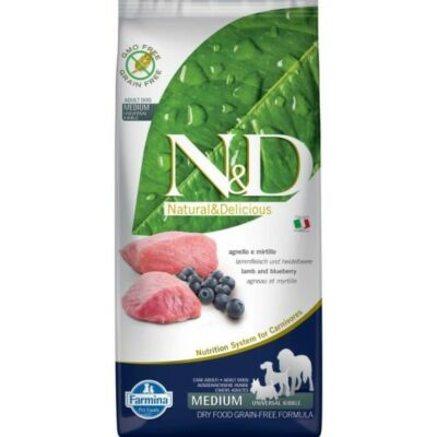 N&D Dog Grain Free bárány&áfonya adult medium 12kg