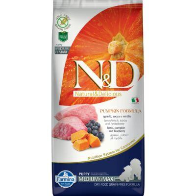 N&D Dog Grain Free bárány&áfonya sütőtökkel puppy medium/maxi 12kg